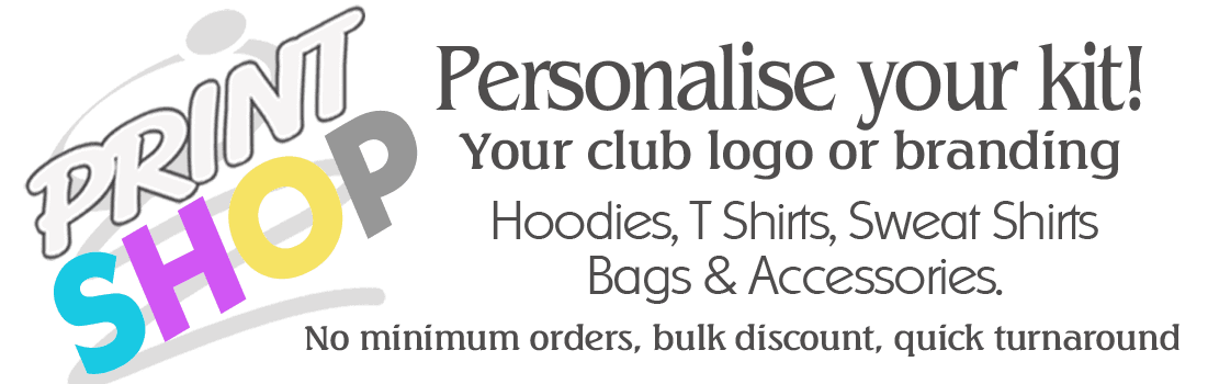 click to personalise your kit here at Gee's Active